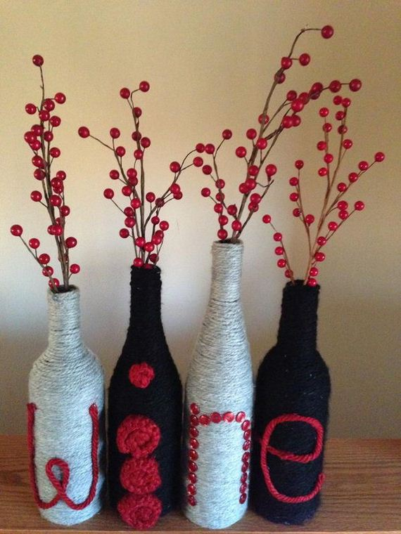 34 cool diy wine bottle projects for Diy projects with wine bottles