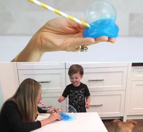 How to Blow Bubbles in Slime