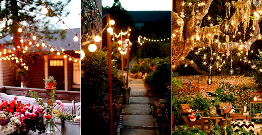Amazing Yard and Patio String Lighting Ideas
