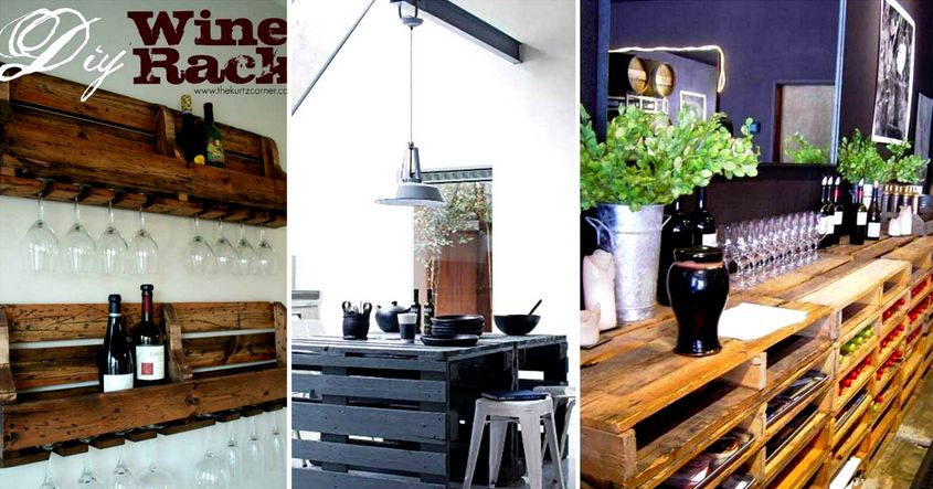 Beautiful Kitchen DIY Pallet Tutorials