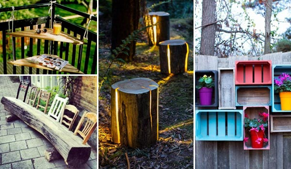 Cool diy reclaimed wood projects for Wooden garden decorations