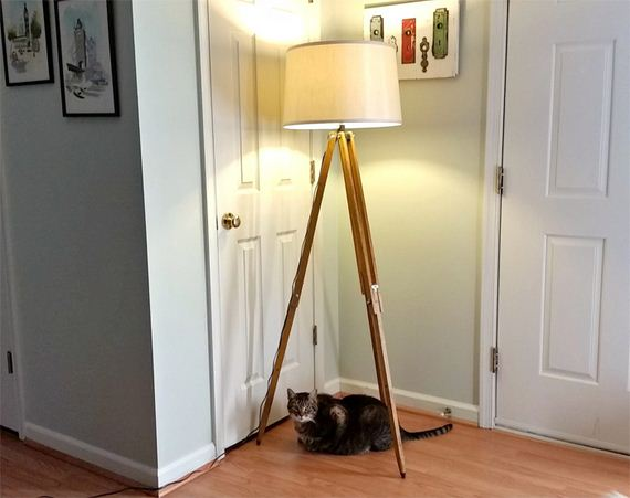 01-Gorgeous-DIY-Floor-Lamps-to-Brighten-Your-Space