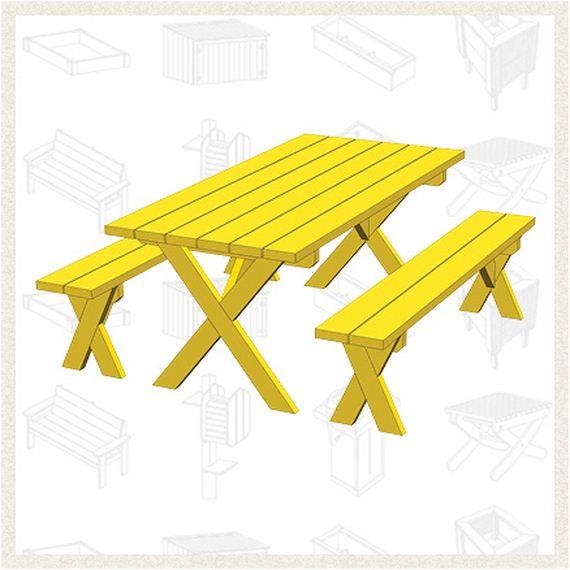 07 FREE Picnic Table Plans