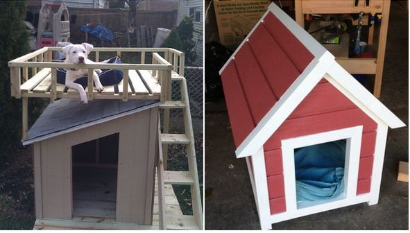 Cool dog house blueprints for Cool dog kennel designs