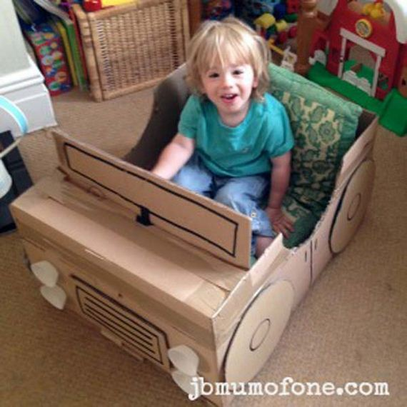 10 Ideas About Cardboard Box Cars On Pinterest: DIY Cardboard Boxes Ideas For Kids
