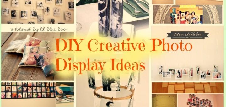Cool DIY Creative Photo Display Ideas