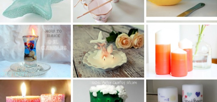 DIY Easy Homemade Candles Tutorials