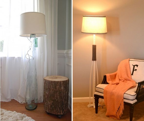 Awesome diy floor lamps aloadofball Image collections