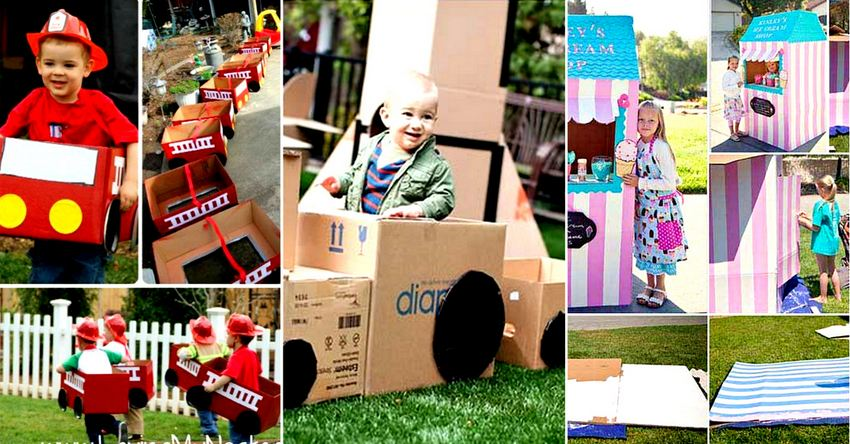 DIY Cardboard Boxes Ideas for Kids