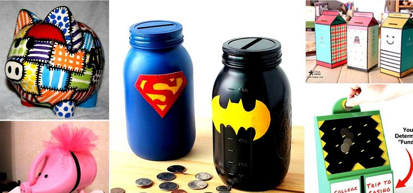 Cool Piggy Banks Crafts For Your Kids to Have Fun With While Saving Money