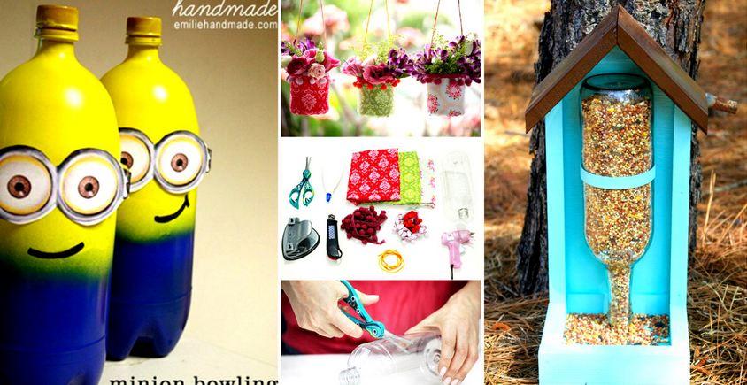 Creative Ways to Re-purpose Plastic Bottles