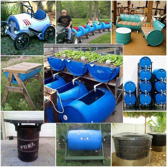 How To Reuse A 55 Gallon Barrel