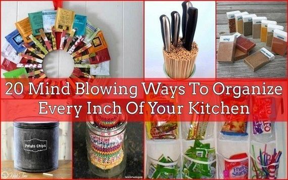 Awesome Ways To Organize Your Kitchen