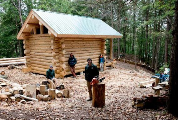 Small Cabin Plan Build Yourself Small Cabin Building Plans: Rustic DIY Log Cabins