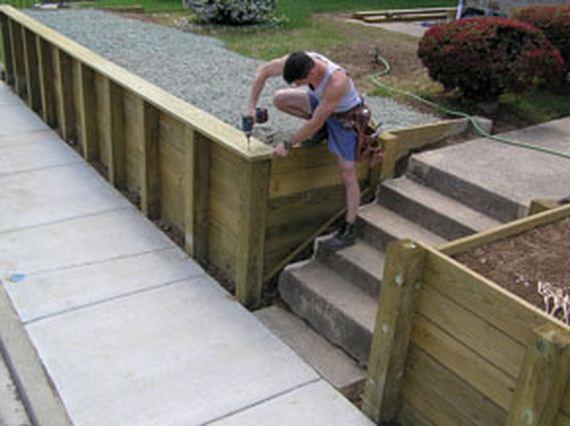 Plank Retaining Walls : Diy retaining walls