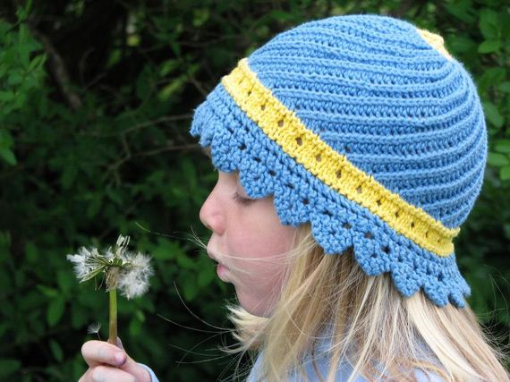 Adorable Knitted Sun Hats For Babies
