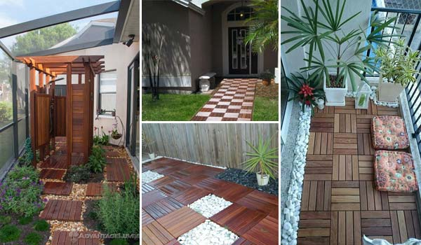 How to Decorate Outdoor Space with Wooden Tiles