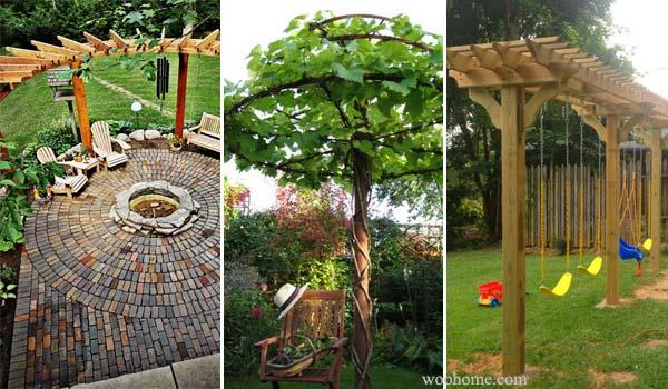 Amazing diy backyard pergola ideas for Diy garden arbor designs