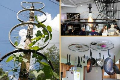 Awesome DIY Ways of Reusing Old Bike Wheels