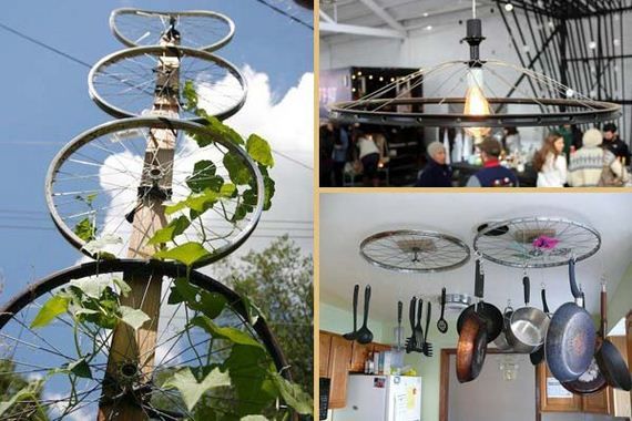 Awesome DIY Ways of Reusing Old Bike Wheels