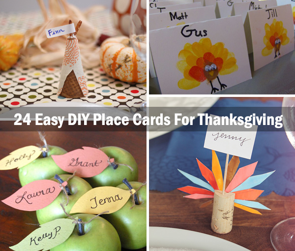 Awesome Place Cards DIY Ideas for Thanksgiving