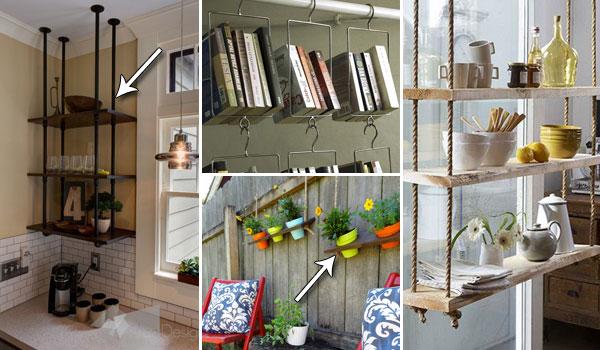 Cool Hanging Shelves