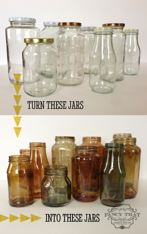 DIY Glass Mason Jars