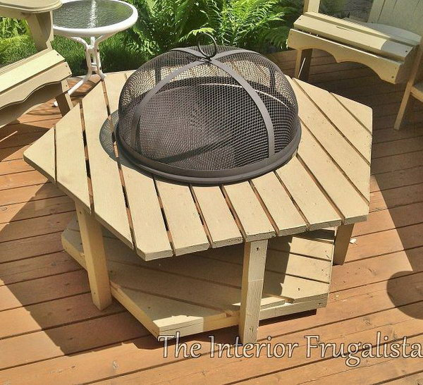 Great homemade fire pit ideas for Easy diy fire pit with grill