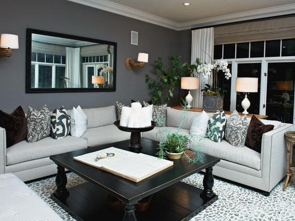 Grey And Dark Green Living Room beautiful living room colors