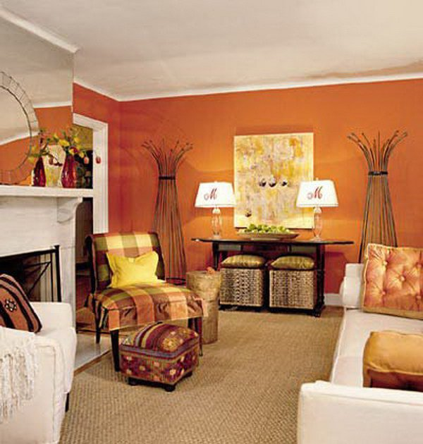 Tangerine Paint Color amazing living room colors for inspiration