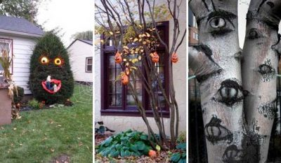Creepy Halloween Outdoor Trees Ideas