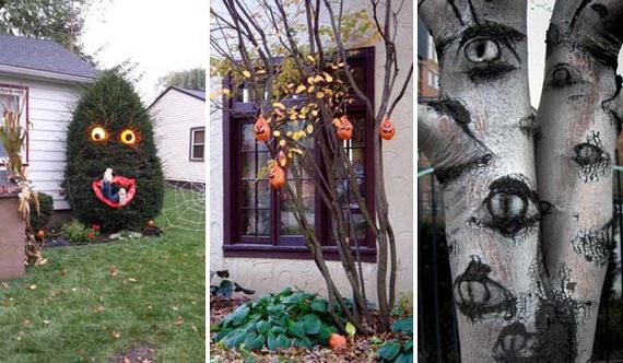 Creepy Halloween Outdoor Trees Ideas