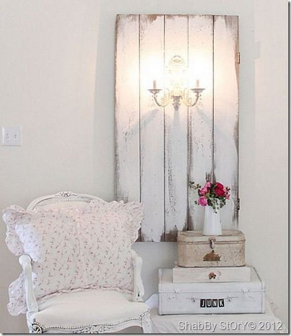 cool shabby chic diy projects. Black Bedroom Furniture Sets. Home Design Ideas