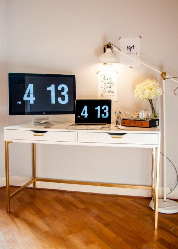 awesome ikea desk hacks. Black Bedroom Furniture Sets. Home Design Ideas