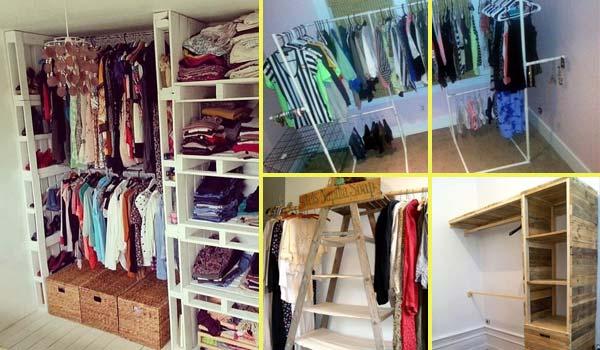 Cheap DIY Clothes Storage Closet