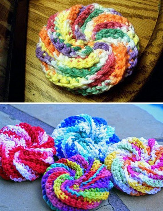 Knitted Scrubbies Free Pattern : Easy Crochet and Knitted Dishcloth Patterns