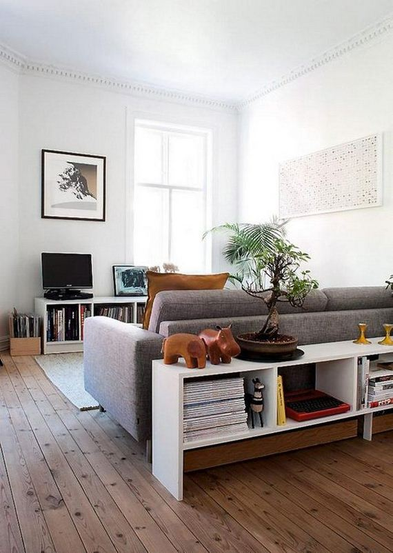 hot to use the space behind couch. Black Bedroom Furniture Sets. Home Design Ideas