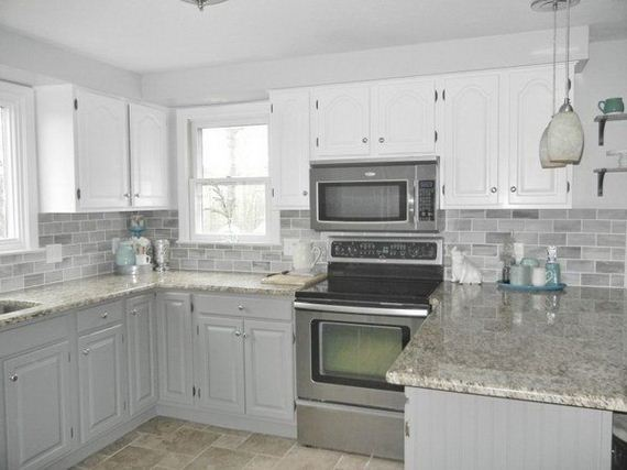 Awesome Two Tone Kitchen Cabinets