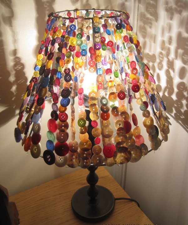 Awesome diy button crafts 11 button craft ideas button lampshade keyboard keysfo Choice Image