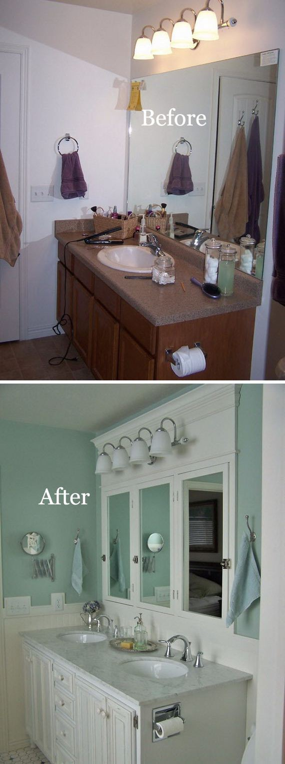 Master Bathroom Makeover Reveal + CD Towers Turned Vanity Storage