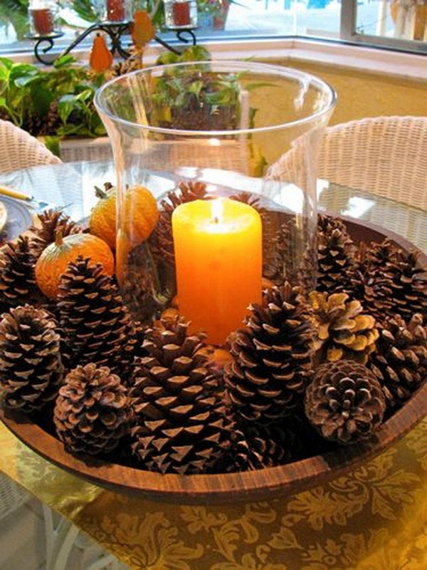 20 pine cone ideas - Decorating Large Pine Cones For Christmas