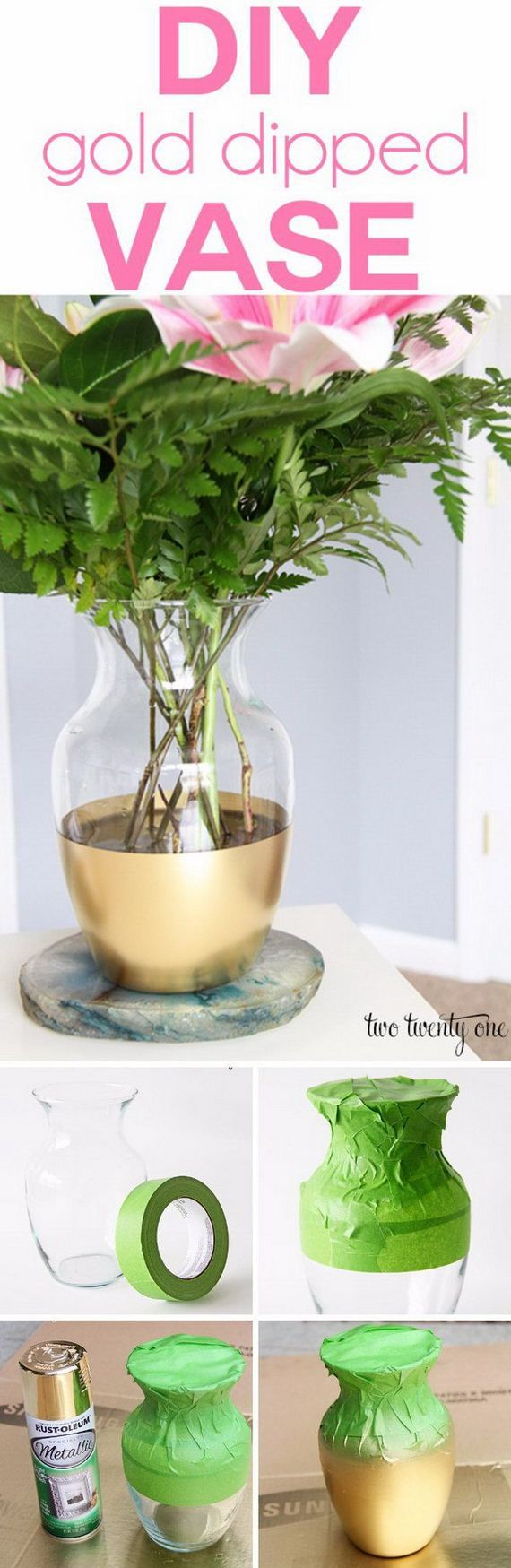How To DIY Tutorial For Gold-Dipped Vase Wedding Centerpieces forecasting