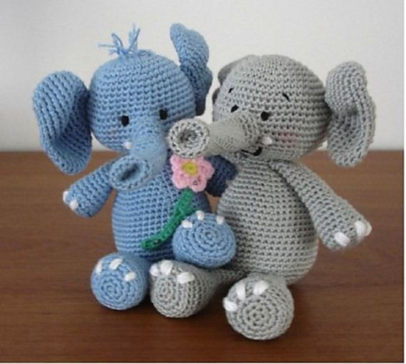 Amigurumi Crochet Elephant Free Pattern   Crochet elephant, Baby ...   511x570