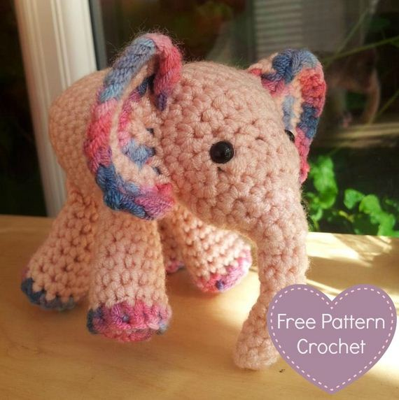 Buy Crochet Artwork Handmade Amigurumi Bigfoot Elephant Soft Toy ... | 572x570