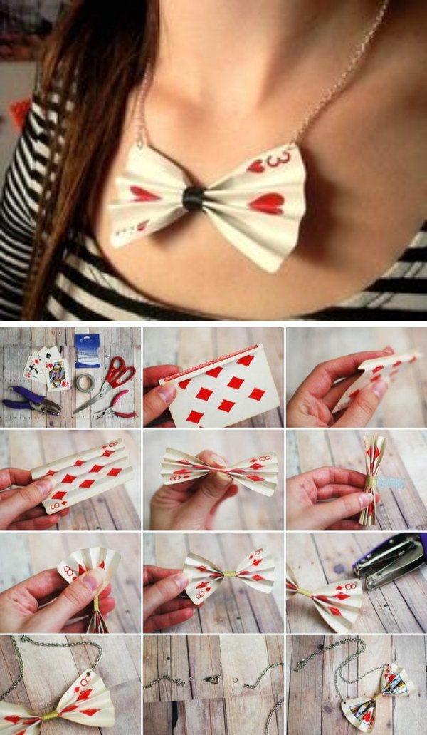 Diy queen of hearts costume ideas diy poker card necklace solutioingenieria Image collections