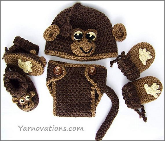 Cute and Fun Monkey Themed Yarn Tutorials