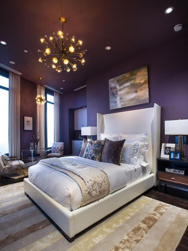 Contemporary Bedroom Paint Ideas 2017 Combinations With Two Color