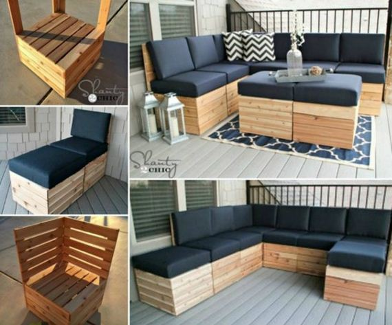 Amazing DIY Outdoor Pallet Furniture Tutorials