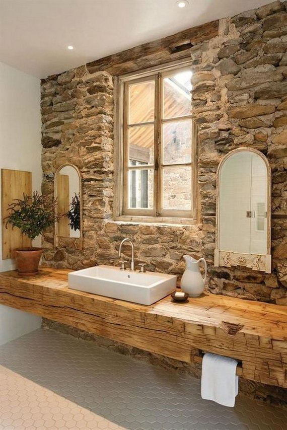 Awesome Rustic Farmhouse Bathroom Ideas