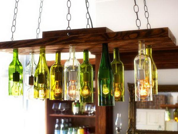 Awesome Wine Bottle Chandelier Ideas